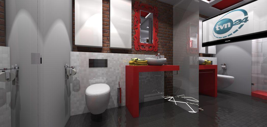 łazienka Z Ceglaną ścianą Portfolio Ancu Design