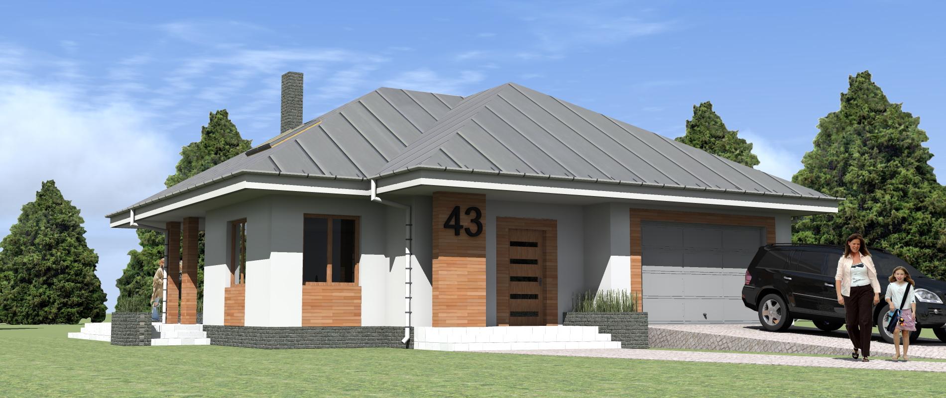 Projekt Elewacji Domu Jednorodzinnego Portfolio Ancu Design